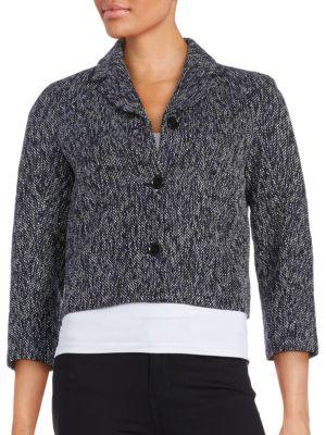 Three-Button Tweed Jacket...