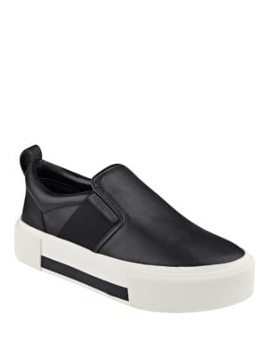 Tenley Leather Slip-On Flatform Sneakers by KENDALL + KYLIE