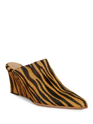 Photo of Galactica Calf Hair Mule Wedges by Free People - shop Free People shoes sales