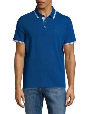 Stripe-Trimmed Polo Shirt by Michael Kors