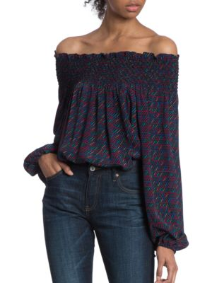 Off-The-Shoulder Blouse by Plenty by Tracy Reese