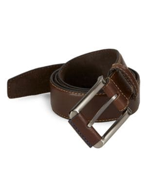 Leather Square Buckle...