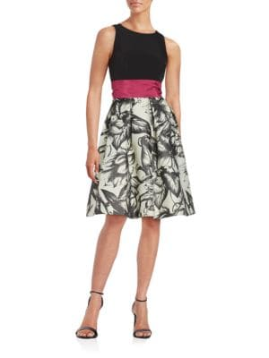 Sleeveless Fit and Flare Dress by Tahari Arthur S. Levine