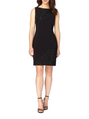Lace Applique Sheath Dress by Tahari Arthur S. Levine