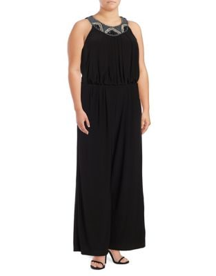 Solid Sleeveless Jumpsuit by Vince Camuto Plus