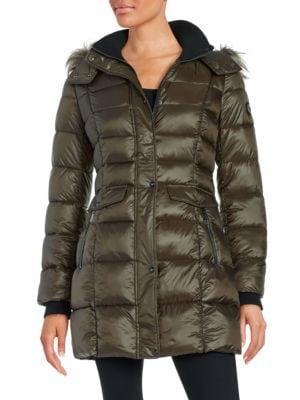 Wellon Faux Fur-Trimmed Puffer Coat by Bernardo