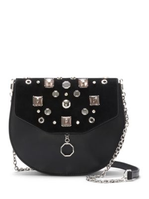 Jael Leather Embellished Crossbody Bag by Louise et Cie