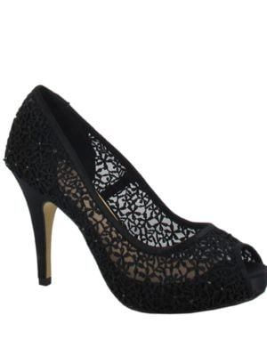 Macedonia Guipur Peep Toe Pumps by Menbur