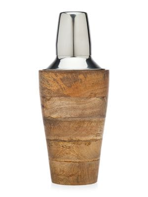 Oversized Wood Cocktail Shaker