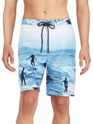 Surf-Print Swim Shorts by Surfside Supply