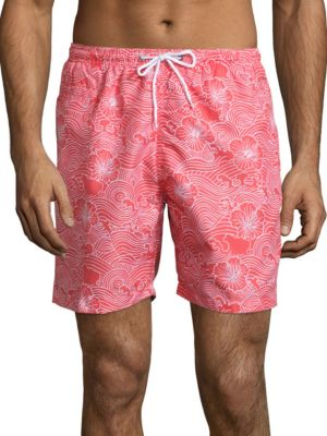 Sano Tropical Floral Print Swim Trunks by Trunks Surf + Swim