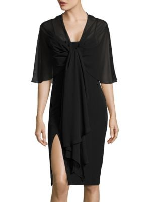 Sheer Tie Front Wrap by Eliza J