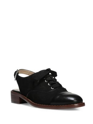 Damian Leather Cap Toe Oxford Slingback by Sam Edelman