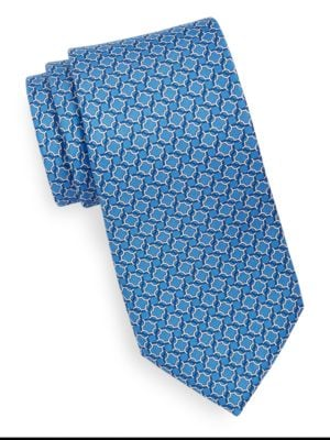 Silk Link Print Tie by Brooks Brothers
