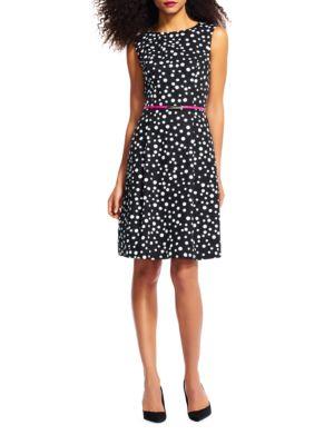 Free Dot Printed Cotton Faille Dress 500049014418
