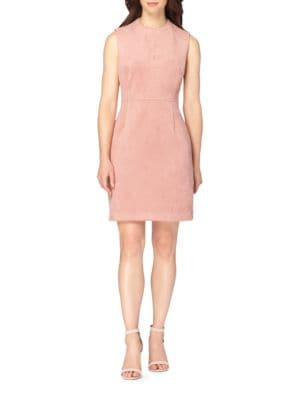 Sleeveless Suede Sheath Dress by Tahari Arthur S. Levine