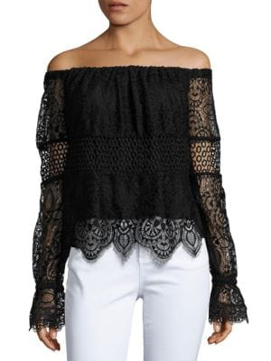 Off-The-Shoulder Lace Top by Plenty by Tracy Reese