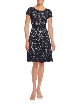 Cutout Floral Fit-and-Flare Dress by Nue By Shani