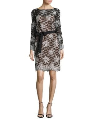 Embroidered Lace Dress by Nue By Shani
