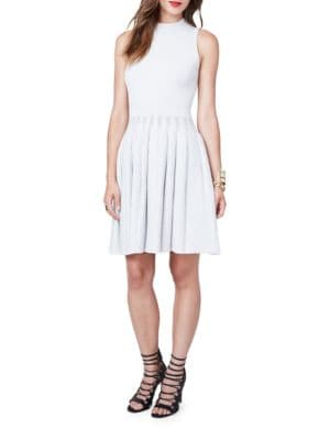 Mockneck Sleeveless Pleated Dress by RACHEL Rachel Roy