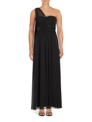 Ruched One-Shoulder Gown by Jessica Simpson