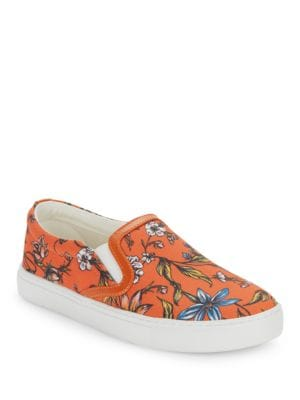 Pixie Floral-Print Slip-On Sneakers by Sam Edelman