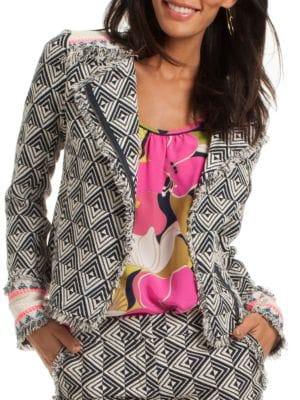 Tia Chevron Patterned Jacket by Trina Turk