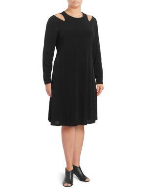Cold-Shoulder A-Line Dress by Ivanka Trump