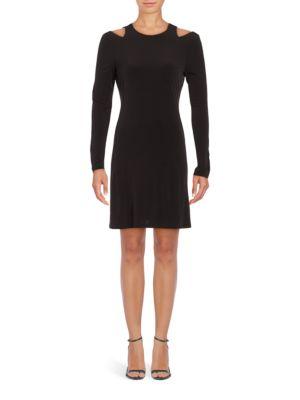 Cold-Shoulder A-Line Dress 500049107451