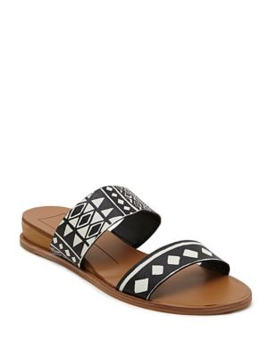 ayce Leather Print Slide Sandals by Dolce Vita