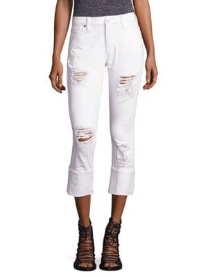 Liv Distressed Relaxed Skinny Jeans by True Religion