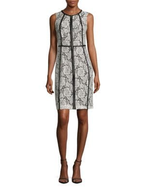 Lace Topped Sheath Dress by Calvin Klein