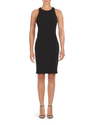 Sleeveless Crepe Sheath Dress by Karl Lagerfeld Paris