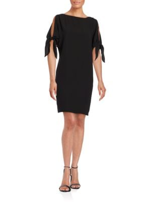 Cutout Sleeve Solid Dress by Vince Camuto