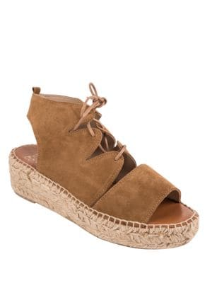 Elika Suede Espadrille Sandals by Andre Assous