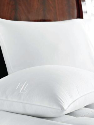 Zippered Cover Cotton Jumbo Down Pillow
