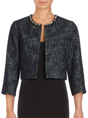 Embellished Neck Jacket by Karl Lagerfeld Paris