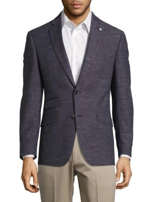 Wool Blend Marled Blazer by Ted Baker London