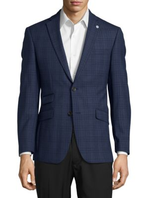 Patterned Wool Suit Jacket by Ted Baker London