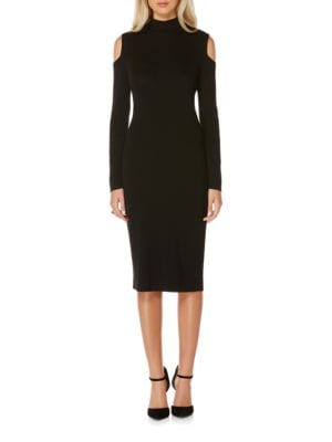 Cold Shoulder Mockneck Sweater Dress by Laundry by Shelli Segal