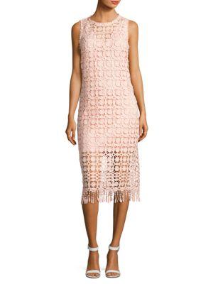 Lace Fringe Hem Dress by Laundry by Shelli Segal