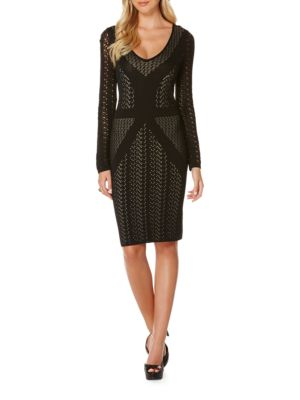 Long Sleeve Knit Bodycon Dress by Laundry by Shelli Segal