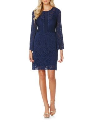 Long-Sleeve Lace Sheath Dress by Laundry by Shelli Segal