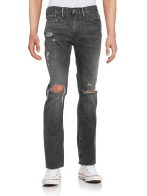 511 Distressed Straight-Leg Jeans by Levi's