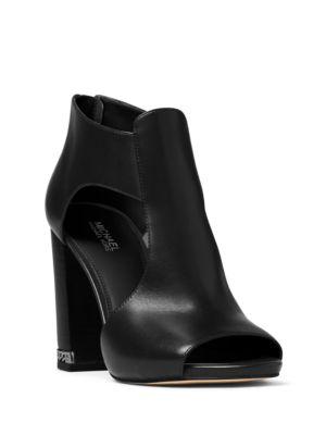 Sabrina Leather Block Heel Sandals by MICHAEL MICHAEL KORS