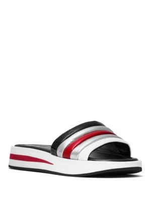 Buy Conrad Leather Slide Sandals by MICHAEL MICHAEL KORS online