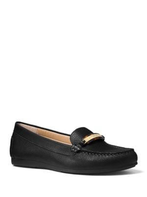 Nadia Ornamented Tumbled Leather Moccasins by MICHAEL MICHAEL KORS