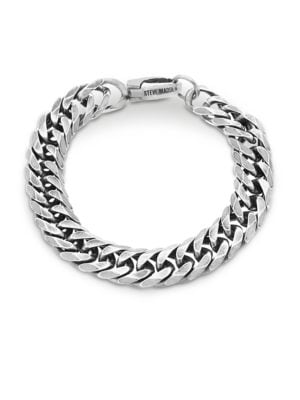 Stainless Steel Curb Chain Bracelet by Steve Madden