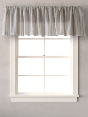 Sandy Coast 86in X 15in Striped Window Valance