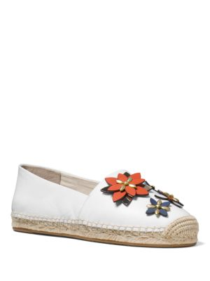 Heidi Embellished Leather Espadrilles by MICHAEL MICHAEL KORS
